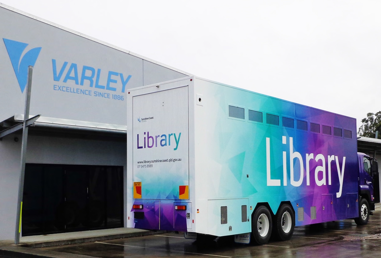 Varley Mobile Library Truck External